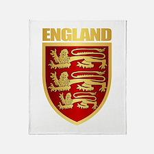 English Royal Arms Throw Blanket