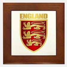 English Royal Arms Framed Tile