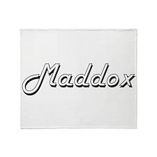 Maddox Classic Style Name Throw Blanket