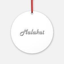 Malakai Classic Style Name Ornament (Round)
