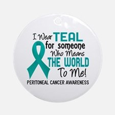 Peritoneal Cancer MeansWorldToMe2 Ornament (Round)