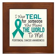 Peritoneal Cancer MeansWorldToMe2 Framed Tile