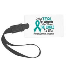 Peritoneal Cancer MeansWorldToMe Luggage Tag