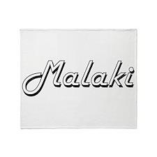 Malaki Classic Style Name Throw Blanket