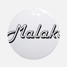 Malaki Classic Style Name Ornament (Round)