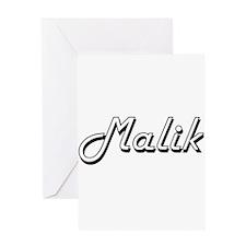 Malik Classic Style Name Greeting Cards