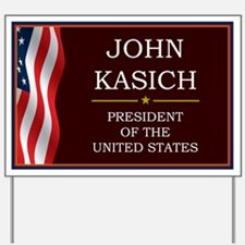 John Kasich for President V3 Yard Sign