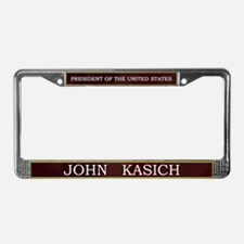 John Kasich for President V3 License Plate Frame