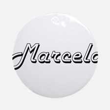 Marcelo Classic Style Name Ornament (Round)