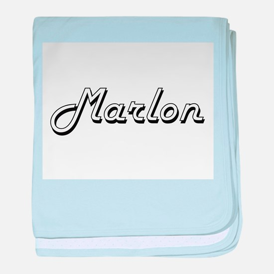 Marlon Classic Style Name baby blanket