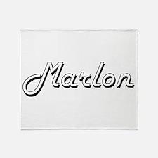 Marlon Classic Style Name Throw Blanket
