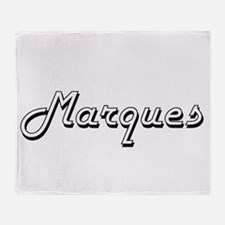 Marques Classic Style Name Throw Blanket