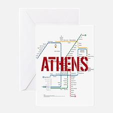 Athens Metro Greeting Cards