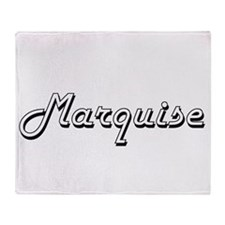 Marquise Classic Style Name Throw Blanket