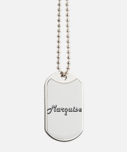 Marquise Classic Style Name Dog Tags