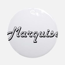 Marquise Classic Style Name Ornament (Round)