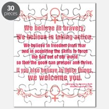 We Believe In Bravery Puzzle