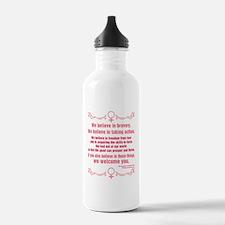 We Believe In Bravery Water Bottle