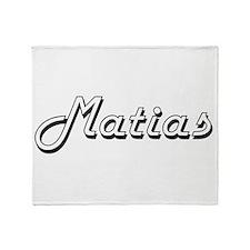 Matias Classic Style Name Throw Blanket