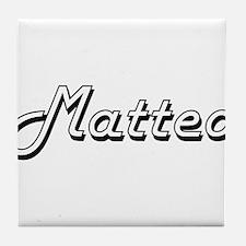 Matteo Classic Style Name Tile Coaster