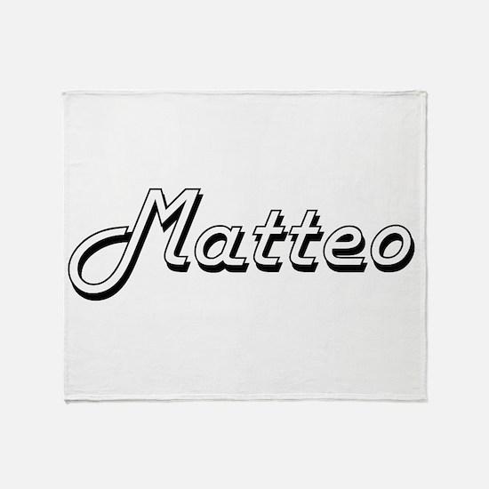 Matteo Classic Style Name Throw Blanket
