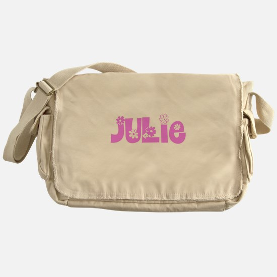 Julie Flower Design Messenger Bag