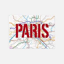 Paris Metro 5'x7'Area Rug