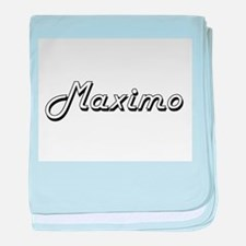 Maximo Classic Style Name baby blanket