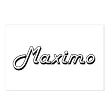 Maximo Classic Style Name Postcards (Package of 8)
