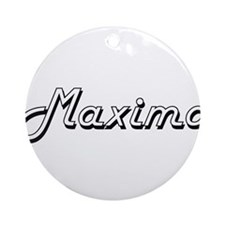 Maximo Classic Style Name Ornament (Round)