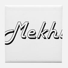 Mekhi Classic Style Name Tile Coaster