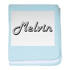 Melvin Classic Style Name baby blanket
