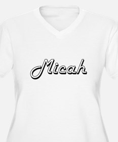 Micah Classic Style Name Plus Size T-Shirt