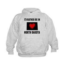 Id Rather Be In North Dakota Hoodie
