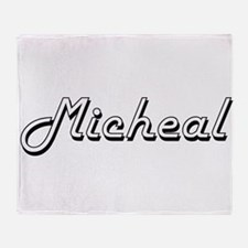 Micheal Classic Style Name Throw Blanket
