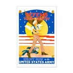 Army Defend Your Country Mini Poster Print