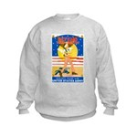 Army Defend Your Country (Front) Kids Sweatshirt