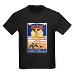 Army Defend Your Country (Front) Kids Dark T-Shirt