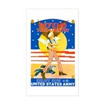 Army Defend Your Country Rectangle Sticker
