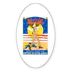 Army Defend Your Country Oval Decal