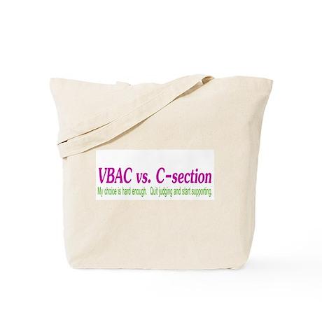 VBAC Hard Enough Tote Bag
