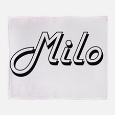 Milo Classic Style Name Throw Blanket