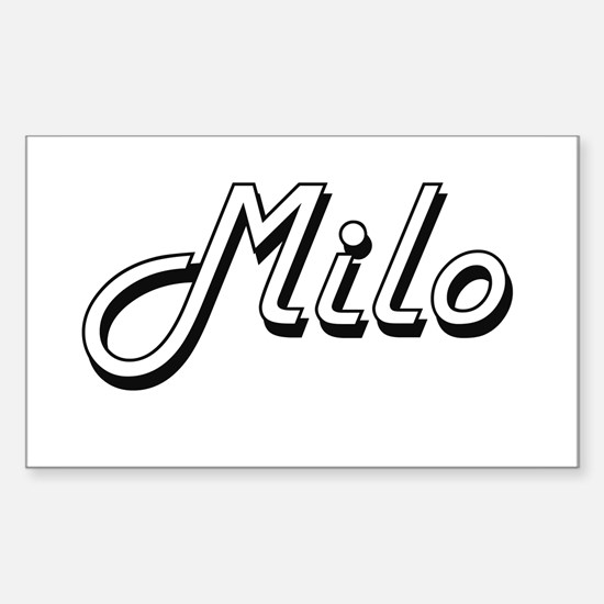 Milo Classic Style Name Decal