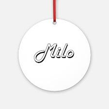 Milo Classic Style Name Ornament (Round)