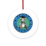 Teddy University Ornament (Round)