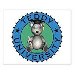 Teddy University Small Poster