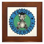 Teddy University Framed Tile