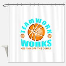 Teamwork tip Shower Curtain