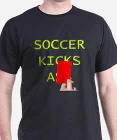 Soccer kicks a red card T-Shirt