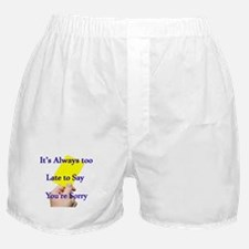 Say Sorry Yellow Card Boxer Shorts